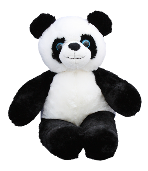 """Hello there! I am """"Bamboo"""" the super cute panda with big blue eyes. Everyone says that I am their favourite friend in the Zoo! I bet you think so too :) (This bear has plastic eyes)"""