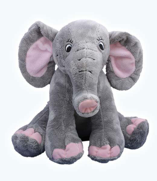Elephant teddy bear on Make a Bear party